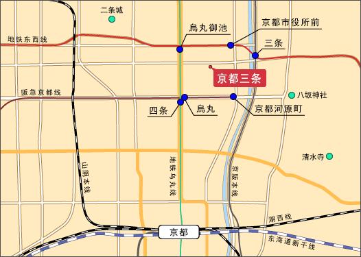 拉面鳞 京都地图