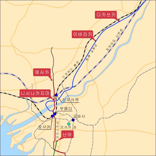 라멘 우로코 오사카지도