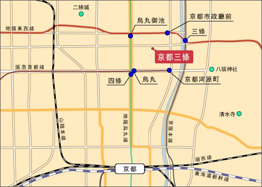 拉麵鱗 京都地圖