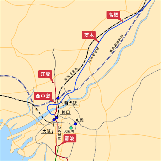 拉麵鱗 大阪地圖